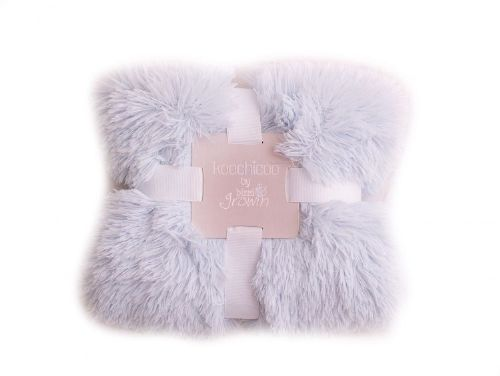 Blue Luxury Pom Pom Blanket
